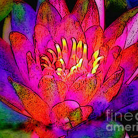 Water Lily Floral  by Carol F Austin