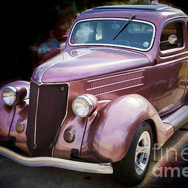 Painting 1936 Ford Roadster Classic Car Or Automobile In Color  3121.02 by M K Miller