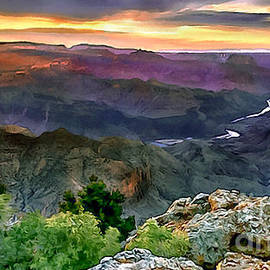 Bob and Nadine Johnston - Painting of Desert View Grand Canyon