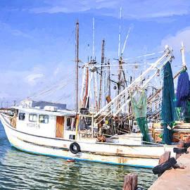 Palacios Texas Shrimp Boat Lineup by JG Thompson