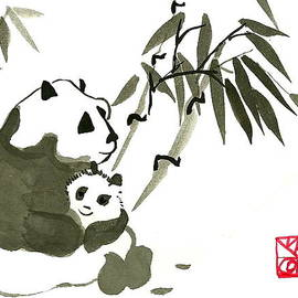 Panda with Chop by M E Wood