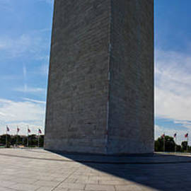 Panoramic Of Washington Monument  by John McGraw