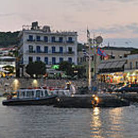 Panoramic view of Spetses town by George Atsametakis