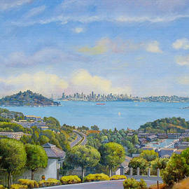 Panoramic View Of Tiburon- large by Dominique Amendola