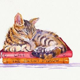 Sleeping Cat - Paperweight by Debra Hall