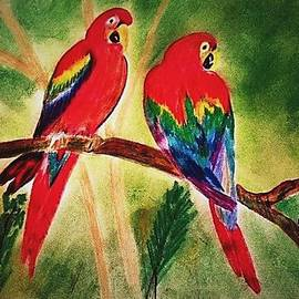 Parakeets in Paradise by Renee Michelle Wenker