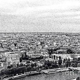 Elvis Vaughn - Paris and the Seine in Ink
