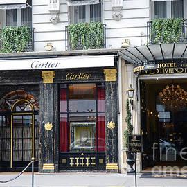 Paris Cartier - Paris Elegant Opulence Hotel Westminster - Paris Cartier Boutique-Cartier Wall Decor by Kathy Fornal
