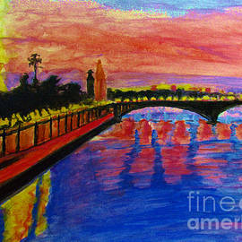 Paris City of Lights at Dusk by Stanley Morganstein