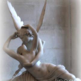 Paris Eros Psyche Angels Louvre Museum - Paris Angel Art - Paris Romantic Eros and Psyche Art  by Kathy Fornal