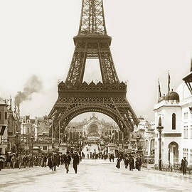 Paris Exposition Eiffel Tower Paris France 1900  historical photos by California Views Archives Mr Pat Hathaway Archives