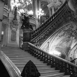 Paris Opera House Grand Staircase Black and White Art Nouveau - Paris Opera des Garnier Staircase by Kathy Fornal
