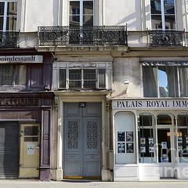 Paris Street Scenes - Paris Palais Royal Architecture Buildings - Paris Door Windows and Balconies by Kathy Fornal