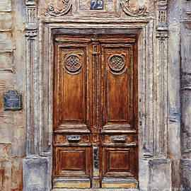 Parisian Door on Rue Lauriston by Joey Agbayani
