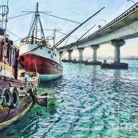 Chris Warring - Part of Fishing Fleet in Tauranga Harbour