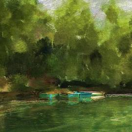 Peaceful Pond Painterly Version by Carla Parris