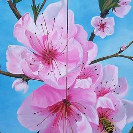 Sharon Duguay - Peach Tree in Bloom Diptych