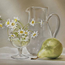 Pear and Daisies by Natasha Denger