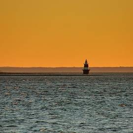 Peck Ledge Lighthouse by Steven Richman