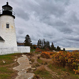 David Smith - Stormy Autumn Day at Pemaquid Point Lighthouse