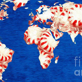 Peppermint World Painting by Andee Design