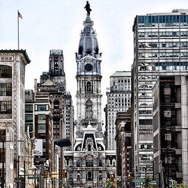 Bill Cannon - Philadelphia City Hall from North Broad Street