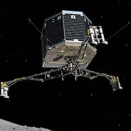 Philae Lander Descending To Comet 67pc-g by Science Source