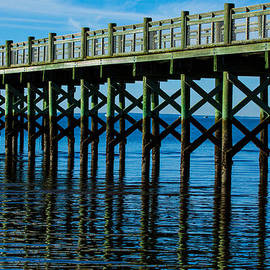 Pier Reflections by Karol Livote