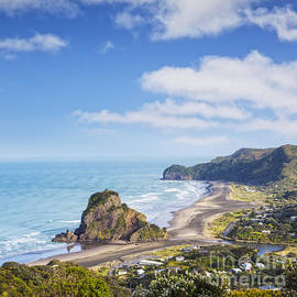 Piha and Lion Rock New Zealand by Colin and Linda McKie