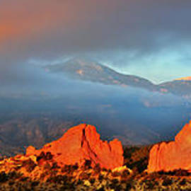 Ken Smith - Pikes Peak and Garden of the Gods Panorama