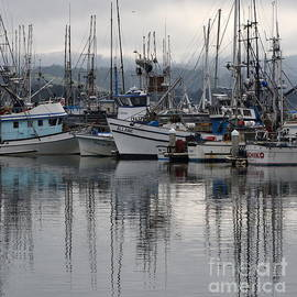 Pillar Point Harbor Reflections by Dean Ferreira