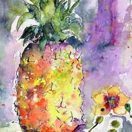 Pineapple and Orchids by Ginette Callaway