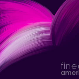 Pink and Purple Curved Design by Barefoot Bodeez Art