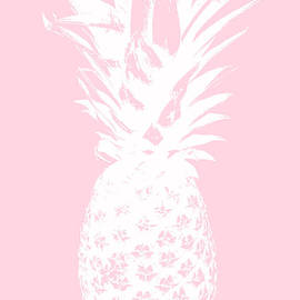 Pink and White Pineapple by Linda Woods