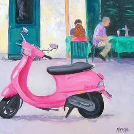 Pink Vespa by Jan Matson