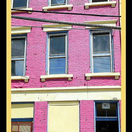 Pink Yellow Blue Building by Kathy Barney