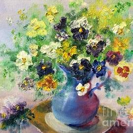 Pitcher of Pansies by Kathelen Fox Weinberg