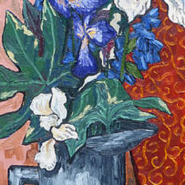 Phillip Castaldi - Pitcher with Irises