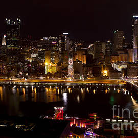 Pittsburgh All Lit Up by  Rich  Wise