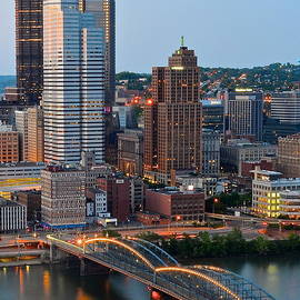 Pittsburgh at Dusk by Frozen in Time Fine Art Photography