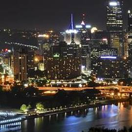 Pittsburgh Three Rivers Panorama by Frozen in Time Fine Art Photography