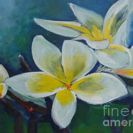 Plumeria bloom by Aline Halle-Gilbert