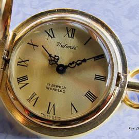 Kae Cheatham - Pocket watch on Brocade