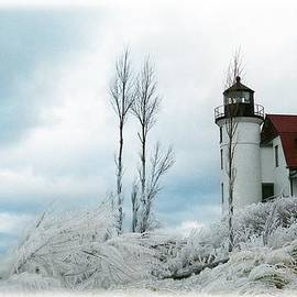 Point Betsie Lighthouse in Michigan by Julie Ketchman