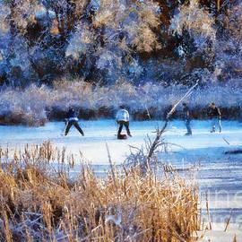 Les Palenik - Pond Hockey - Painterly