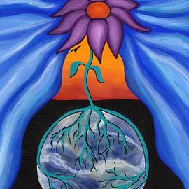 Pondering Creation - Behind The Curtain by Barbara St Jean