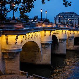 Pont Neuf Bridge - Paris France by Georgia Mizuleva
