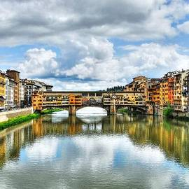 Ponte Vecchio At Florence Italy 2 by Mel Steinhauer