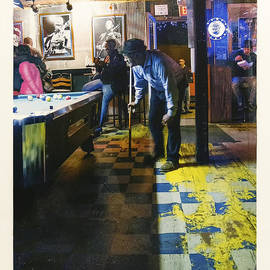 Pool Hall - The Rusty Nail Polaroid Transfer by Jo Ann Tomaselli