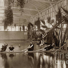 Pool in the Del Monte Bath House Monterey circa 1885 by California Views Archives Mr Pat Hathaway Archives